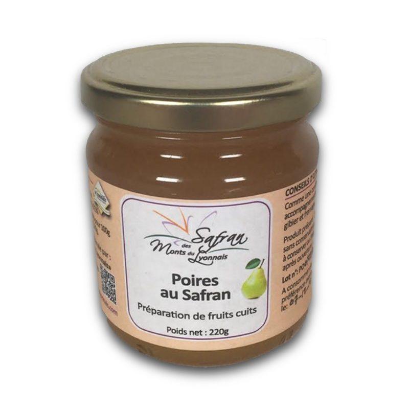 Préparation de poires cuites au safran