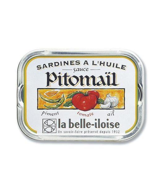 Sardines à l'huile sauce Pitomaïl