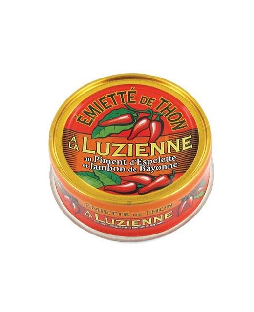 Emietté de thon à la Luzienne (piment d'Espelette/jambon de Bayonne)