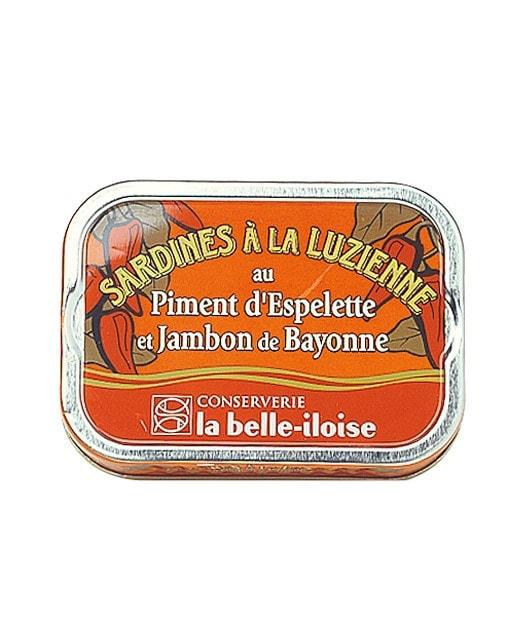 Sardines à la Luzienne (piment d'Espelette/jambon de Bayonne)