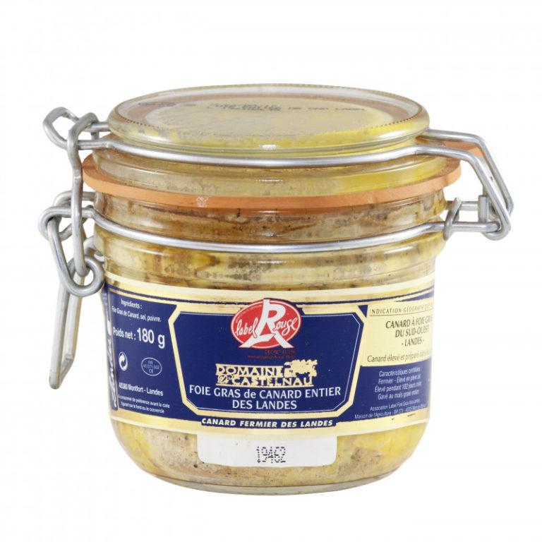 foie-gras-de-canard-entier-label-rouge-landes 180 g