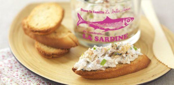 Rillettes de sardines à l'huile d'olive