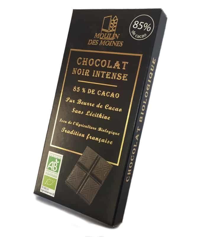 Chocolat noir intense 85% de cacao Bio